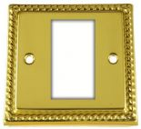 Monarch Roped Polished Brass Data Modules & Data Plates